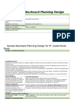 goal 7- the 3 stages of backward planning design and sample plan