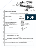 Conformed Complaint Complete for Wrongful Arrest and Malicious Prosecution by  Mazgani Social Services Neyaz Mazgani Nazanin Mazgani Social Security