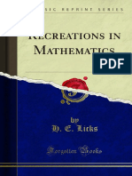 Recreations in Mathematics