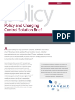 Starent Networks Policy and Charging Control Solution Brief 1109