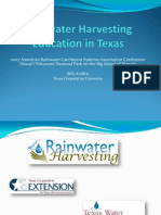 Rainwater Harvesting Education in Texas