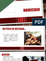 Homicidio Teoria Del Delito