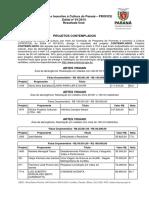 Resultado Final Contemplados Edital Paraná