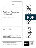 Audit and Assurance Singapore ACCA