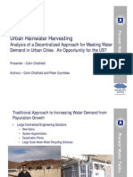 Urban Rainwater Harvesting - Decentralized Approach Meeting Water Demand in Urban Cities
