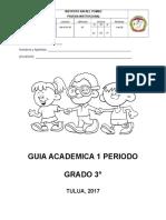 Guia Primer Periodo Grado Tercero