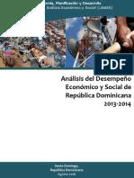 (13.03.17) Análisis Del Desempeño Económico y Social 2013-2014 Final-final 13 Marzo 2017