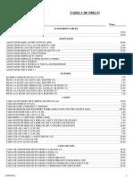 Tabela Ozbrasil 03 de Agosto de 2012