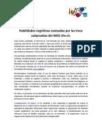 Funciones Cognitivas 13 Subpruebas WISC- III PUC