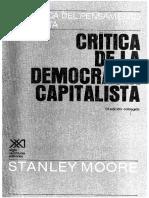 164728573 Critica de La Democracia Capitalista Stanley Moore