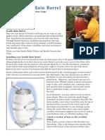 Seattle Rain Barrel User Guide