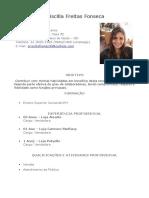 Currículo Priscilla Freitas