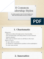 8 Common Leadership Styles