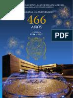 Programa 466 Aniversario UNMSM