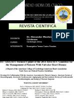 2017 Actualización Manejo de Pacientes Con Cardiopatía Valvular