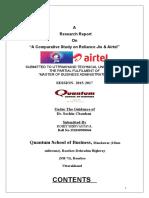 Project Report on Jio vs Airtel