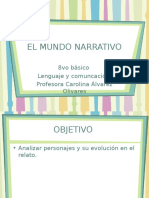 Mundo narrativo 8vo .ppt