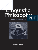 Hallett, Linguistic Philosophy