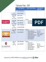 University Visits June July 2015