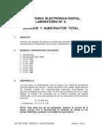 Lab 6 Cto Digital.- Sumador y Subtractor