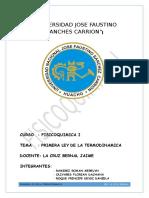 Tema II Primera Ley de La Termodinamica Proyecto II