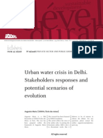 Urban water crisis in Delhi