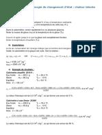 Quantification de l'Energie de Changement d'Etat - Chaleur Latente de Fusion de La Glace
