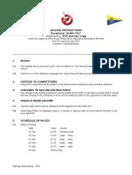 javelin euros 2017 sailing instructions