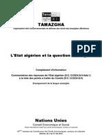 Etat de Tamazight en Algérie(2010)
