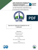 Ejercicios de Aplicación Yacimientos de Gas Condensado
