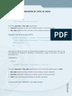 Ejercicio 7 - Funciones de Conversión de Tipos de Datos