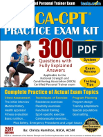 NSCA Personal Trainer Practice Test Kit 2017