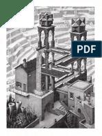 Cascada Litografia 1961 38 x 30 Cm Escher