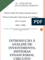 Sistema Financeiro e Mercado de Capitais - Analise de Investimento e Financiamento