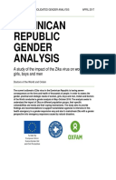 Dominican Republic Gender Analysis: A study of the impact of the Zika virus on women, girls, boys and men