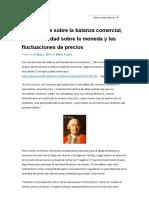 David Hume sobre la balanza comercial, pero en verdad sobre la moneda y las fluctuaciones de precios - Blog el foro y el bazarBlog el foro y el bazar.pdf