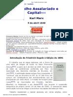 Marx_ Trabalho Assalariado e Capital