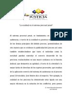La Oralidad en El Sistema Procesal Penal (1)