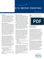 Bisphenol a in Dental Materials