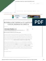 Budinca de Tapioca Cu Lapte de Cocos, Mango Si Limeta _ Retete CA La Mama