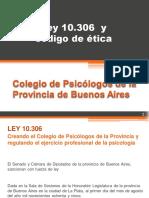 Ley 10.306 y Código de Ética (Esquema) by ca