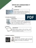 Instrumentos de Laboratorio y Sus Usos