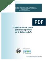 Clasificacion de Suelos Por Division Politica de El Salvador