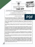 Decreto 343 Del 01 de Marzo de 2017