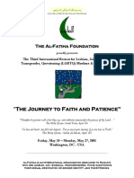 Al-Fatiha Retreat Program Book - Washington, DC (May 2001)