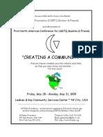 Al-Fatiha Conference Program Book Front Cover - New York, NY (May 1999)