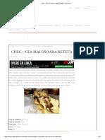 Chec – Cea Mai Usoara Reteta _ Retete CA La Mama