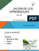 Evaluación de Los Aprendizajes JER