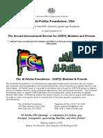 Al-Fatiha Ad for London Retreat Program Book (May 2000)
