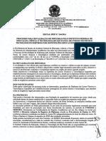 Edital Ifsp